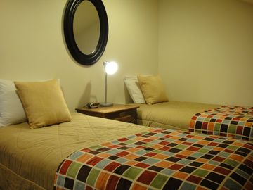 Twin Bed Room. Beds can be pushed together to make a King bed.