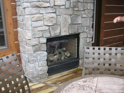 indoor/outdoor fireplace
