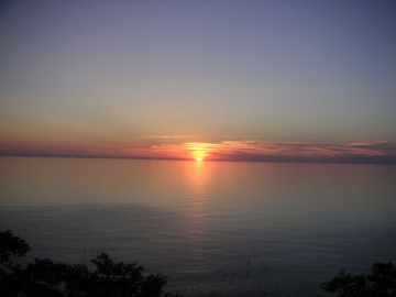 Beautiful Lake Michigan sunset