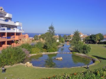 View of Ponds and Gardens from the Swimming Pool