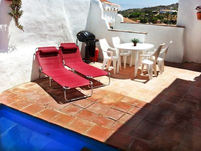 Alora house rental - Back garden and plunge pool