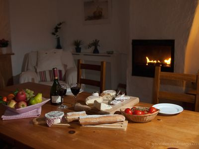 Saint-Vaast-la-Hougue house rental - Winter dining.