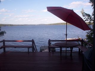 A view of the lake from the deck