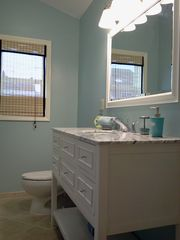 Lavallette house photo - All NEW Tiffany Bathroom, plenty of storage for your needs.