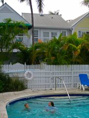 Key West condo photo - Your second floor balcony from the pool.