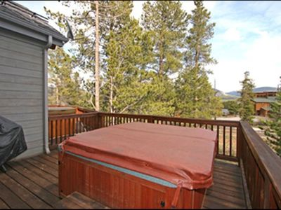 Large Deck with BBQ Grill and Oversized Hot tub