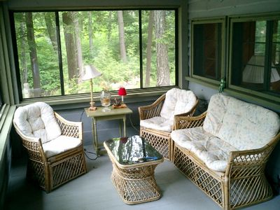 Screened Porch with Hammock