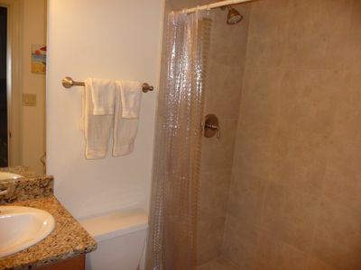 Granite and Tile with 5' Shower to Enjoy
