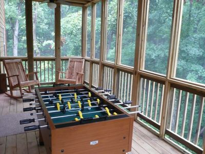 Branson house rental - Relax listening to the crickets and tree frogs from the lower deck