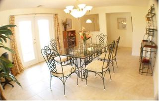 Cape Coral villa photo - Dining room with french doors to front porch.