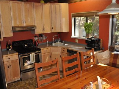Heavenly Valley cabin rental - Another view of your fully stocked kitchen, including your first night's dinner!