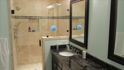 master bath with jakuzzi and shower