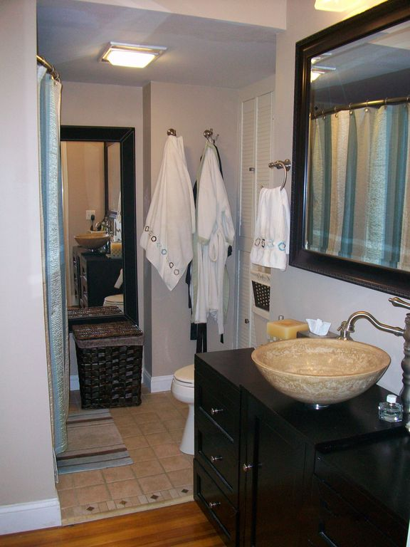 Remodeled master bath.