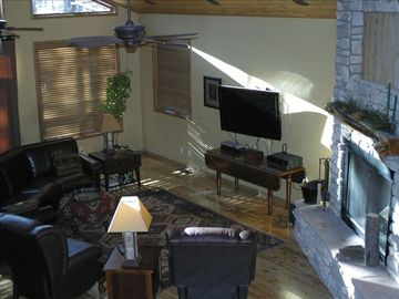 Great Room with Flat Screen and Fireplace