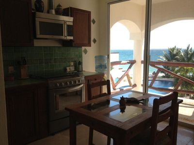 Puerto Morelos condo rental - View from kitchen