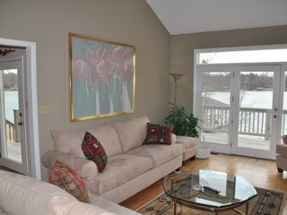 Moneta house photo - Living room overlooking lake