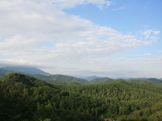 Pigeon Forge cabin photo - Crimson Moon's view is truly a 180 degree view of long-range layered mountains.