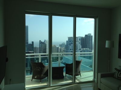 Brickell apartment rental - Relax in your balcony.