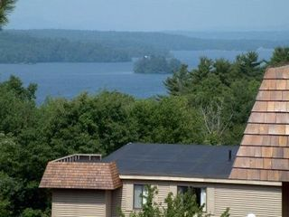 Laconia condo photo - Water & mountain views!