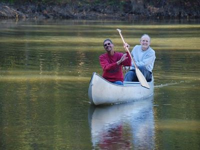 Take a relaxing paddle in the canoe or 2 man kayak provided for your use.