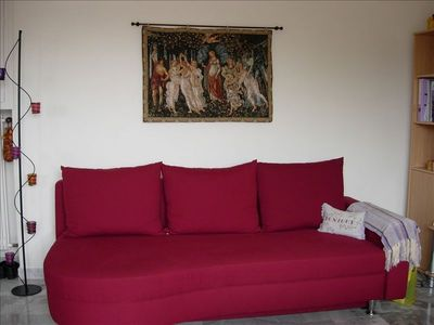 Cagnes-sur-Mer studio rental - CONVERTS TO A SLEEPER