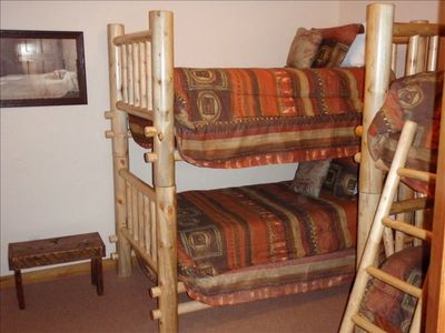 Bedroom with two pair of bunk beds (sleeps 4)