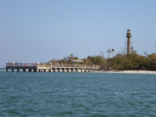 Sanibel Island condo photo - Sanibel fishing pier and historic lighthouse
