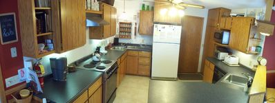 HUGE kitchen - 1 dbl+1 sgl sink, dishwasher, micro, toasters...FULLY STOCKED!