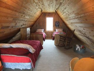Claybank Township cottage photo - Loft with one full-size and two twin beds