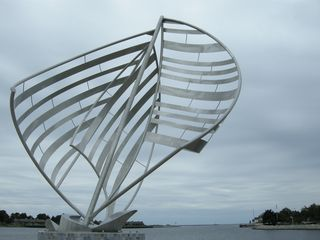 Ludington condo photo - A sculpture at the waterfront park