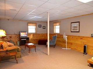 Conway house photo - Family room with full bath, 2 queen size pull out sofas and a futon, sleeps 6