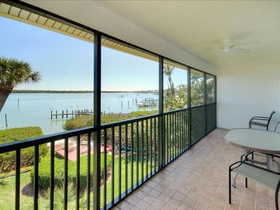 Watch Birds, Dolphin and Manatee from Your Screened Lanai