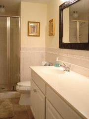 Wild Dunes condo photo - Guest Bathroom with Lovely Tilework!