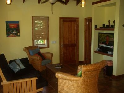 Roatan house rental - living area