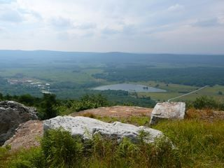 Canaan Valley cabin rental - Spruce Island Lake from atop Cabin Mt.