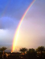 Indian Wells property rental photo - Double Rainbow. Taken from pool wall. Down 5th fairway