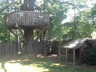 Phoenicia house photo - Tree house (for adults and kids!), swing and kid-sized cabin.