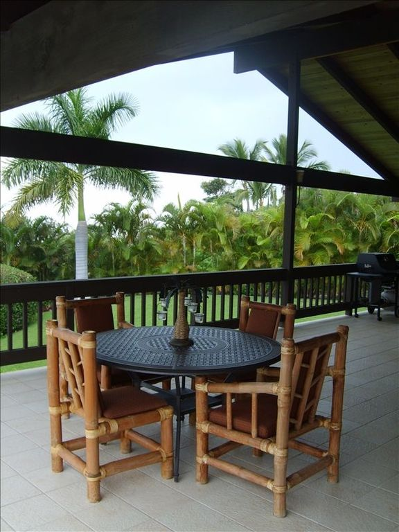 Relax and Dine in the Shade of this Huge, Wrap-around Lanai