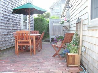 Nantucket Town house photo - Brick patio