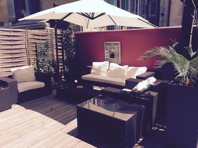 1 Bedroom Apartment With Huge Terrace, Bbq, Sunbathing & Lounging Area.