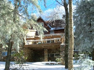 Beech Mountain house rental - Winter view from downhill