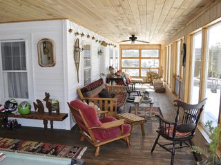 Brant Lake farmhouse photo - Sun-filled Enclosed Porch