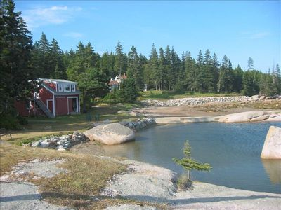 Boat House with tidal pool and Maine Beach