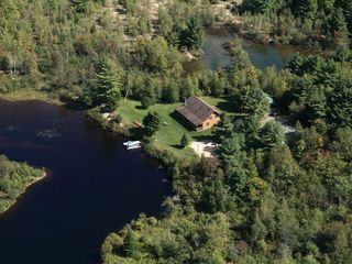 Colton cottage photo - aerial view of the lodge