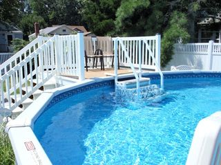Cape May house photo - Pool deck has safety gate