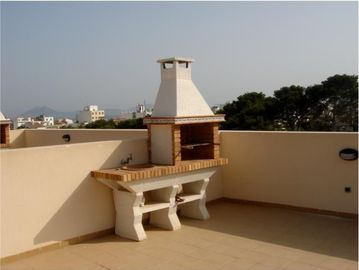 Roof terrace barbeque
