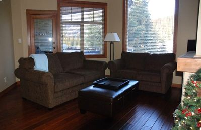 Living Room - great gathering space in front of a gas fireplace