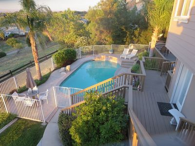 Your private deck, pool and entry await you.