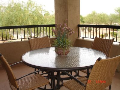 Scottsdale Grayhawk condo rental - GREAT PATIO with view of Pinnacle Peak to the northeast
