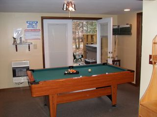 Arrowhead Lake house photo - Pool Table with French Doors to Hot Tub